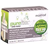 CO2 Cartridges for Purefizz Soda Maker - Set of 10 Cartridges - Fizz Up Your Drinks With Pure Fizz! - By Mastrad