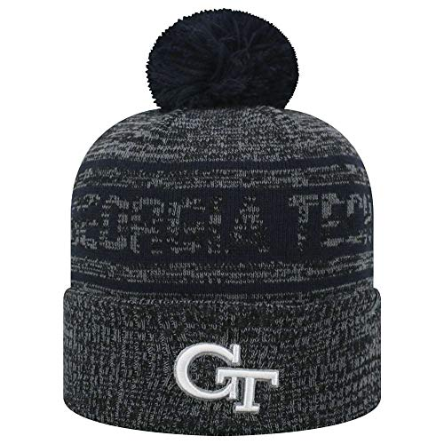 NCAA Georgia Tech Yellow Jackets Top of The World Sock IT 2 Me Knit Beanie (Georgia Tech Knit)