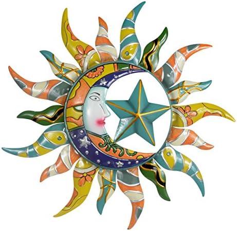 Sun Moon Stars Metal Wall Hanging Garden Art