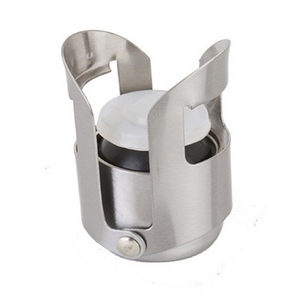 FTXJ Stainless Steel Champagne Wine Saver Stopper Wine Bottle Plug Sealer Wine Accessory by FTXJ (Image #2)