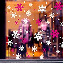 Y-Hui Christmas Decorations, Shopping Malls, Shop Doors, Window Stickers, Snow Stickers, Chinese New Year Atmosphere Bells,Blue Snow,Large