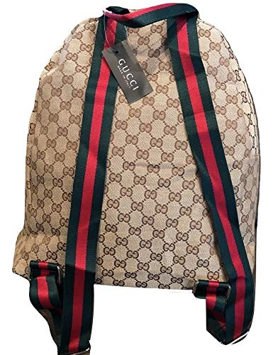 8135888bedff17 New Gucci Canvas Backpack with Signature Web Straps, used for sale  Delivered anywhere in USA