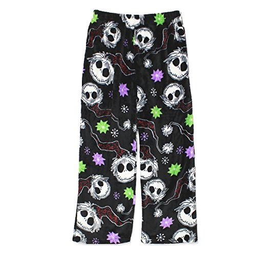 The Nightmare Before Christmas Jack Skellington Womens Fleece Pajama Pants (X-Large, (Nightmare Before Christmas Jack Skeleton)
