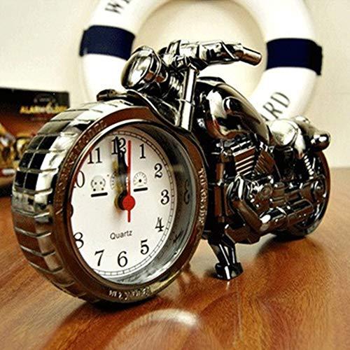 WskLinft Motorcycle Alarm Clock Model Retro Alarm Clock Personalized Desktop Ornament