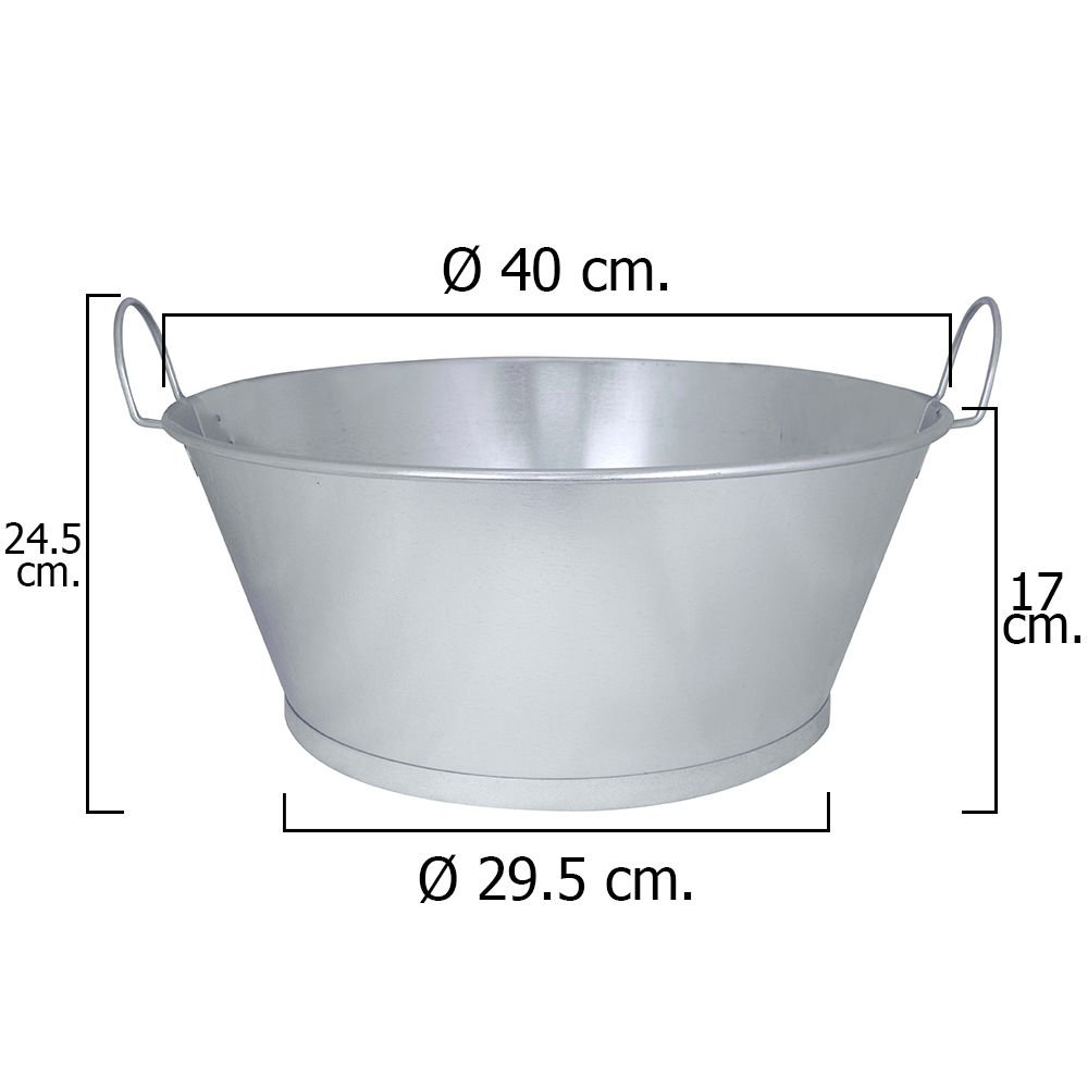 14/L /Bassine galvanis/ée 16 Wolfpack/5060003/ 40/x 17/cm