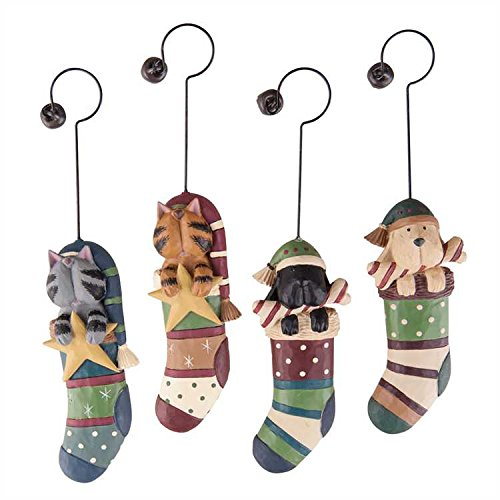 Williraye Studio Puppy And Kitty Stocking Stuffers Ornaments - Set of 4
