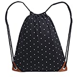 Kanzd Fashion Women Leaf Printing High Capacity Bucket Bag Backpack Shoulder Bag (N)