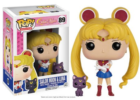 (Funko POP Anime: Sailor Moon with Luna Action Figure)