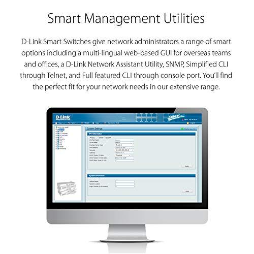 D-Link Ethernet Switch, 8 Port Easy Smart Managed Gigabit Network Internet Desktop (DGS-1100-08)