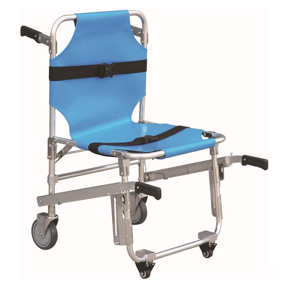 QETU Stair Chair Aluminum Light Weight Ambulance Medical Lift, Emergency Medical First-Aid Stretchers Light Weight Strong Folding Stair Aluminum Alloy Stretcher Chairs,B by QETU
