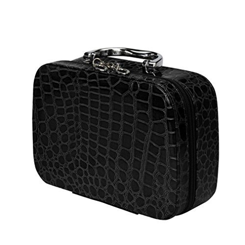 YJYdada Fashion Makeup Storage Bag Case Jewelry Box Leather