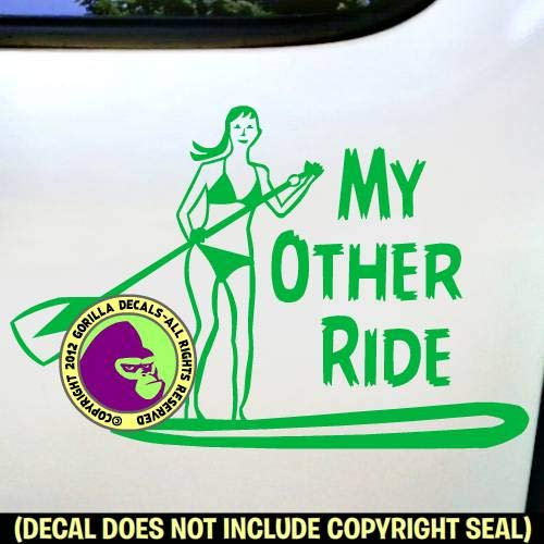 MY OTHER RIDE Girl Paddle Board Love Boarding Vinyl Decal Sticker E