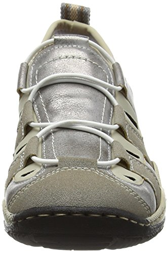 Rieker Zapatillas L0561 Women Low-Top Grau (vapor/grey/beige / 41)