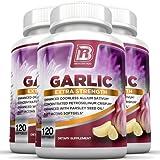 BRI Nutrition Odorless Garlic - 120 Softgels - 1000mg Pure And Potent Garlic Allium Sativum Supplement (Maximum Strength) - 3-Pack