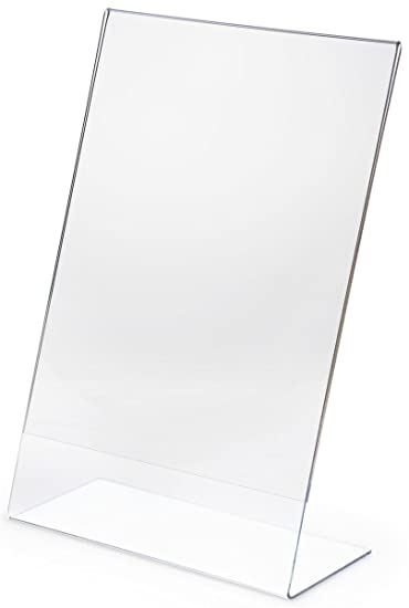 Amazoncom Displays2go Set Of 5 Angled Sign Holders For 11 X 17