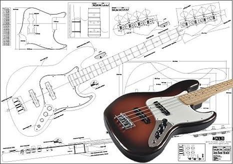 [WLLP_2054]   Amazon.com: Plan of Fender Jazz Bass 4 String - Full Scale Print: Musical  Instruments | Fender Jazz Bass 24 Wiring Diagram |  | Amazon.com