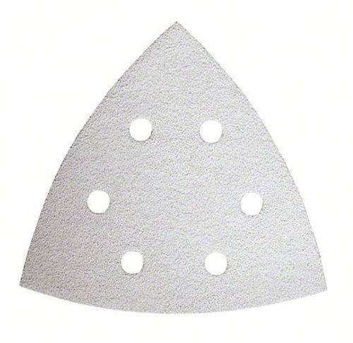Bosch 2609256958 Set de 10 feuilles abrasives peinture delta 93 mm 6 trous grains 60/80/120/180/240 accessoires Starlock