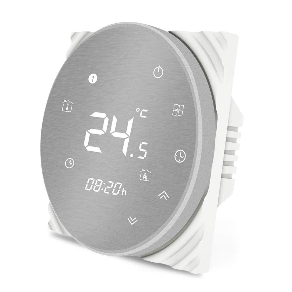 MOES Termostato inteligente WiFi Controlador de temperatura Smart Life APP Control remoto para calefacci/ón el/éctrica Funciona con Alexa Google Home 16A