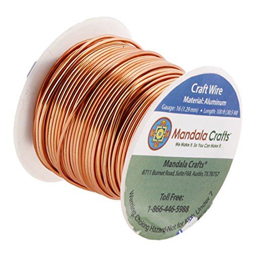 Mandala crafts 12 14 16 18 20 22 gauge anodized jewelry for 10 gauge craft wire