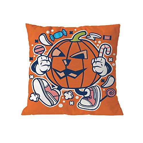 Halloween Pillow Case Pgojuni Throw Pillow Cover Cushion Polyester Cover Pillow Case Home Decor 1pc (45cm X 45cm) (H) by Pgojuni_Pillowcases (Image #1)