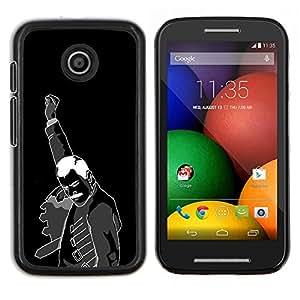 Caucho caso de Shell duro de la cubierta de accesorios de protección BY RAYDREAMMM - Motorola Moto E - Hell Yeah Mercurio