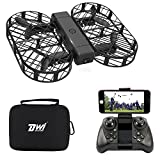 DWI Dowellin FPV Drone with Camera Live Video Foldable RC Quadcopter Crash Proof One Key Take Off Landing Flips and Rolls Mini Drones with Case for Kids Beginners Adults