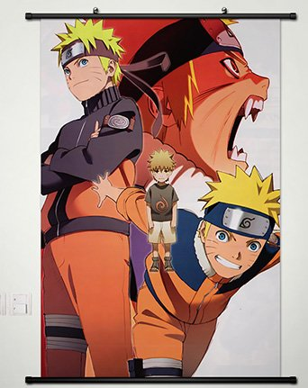 Wall Scroll Poster Fabric Painting For Anime Naruto Uzumaki