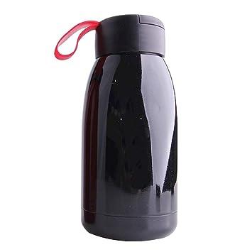 TAMUME 450ML Botella de Agua Termo Vaso Termico Cafe para llevar a Prueba de Fugas con Percha Silicona Vaso de Viaje de Acero Inoxidable Frasco de ...