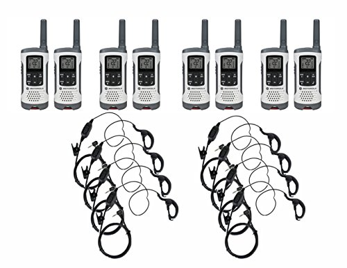 Motorola Talkabout T260 FRS/GMRS Two-Way Radio 8-Pack with 8 PTT Earpieces (Motorola Radio Portable Earpiece)