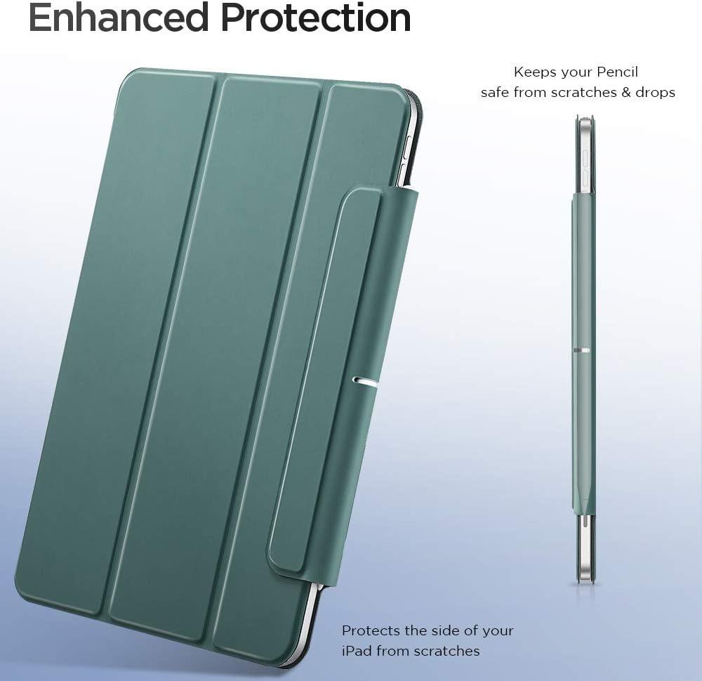 Rabat Smart /& Pliable ESR /Étui Magn/étique Compatible avec iPad Air 4 2020 10.9, S/éries Rebound Noir Aimant Puissant /& Rassurant