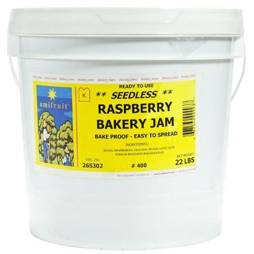 Raspberry Bakery Jam - Seedless - 1 pail, 22 lb
