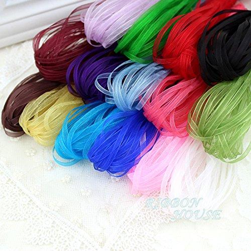 FunnyPicker (15 Colors Mixed) 1/8''(3 Mm) Organza Ribbons Wholesale Gift Wrapping Christmas - Organza Wholesale Ribbon