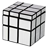3x3 Silver Mirror Cube Magic Speed Puzzles, YKL World ABS Ultra-smooth Professional Twist Cube Smart Brain Teaser Toy Game for Christmas Birthday Gifts