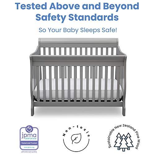 51w7igOuENL - Delta Children Canton 4-in-1 Convertible Crib - Easy To Assemble, Grey