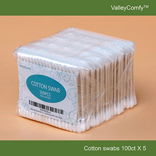 valleycomfy-wooden-stick-cotton-swabs-qtips-100ctx5-double-tipped-premium-100-cotton