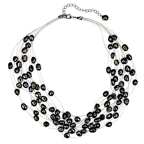 - Regalia Multi Strand Baroque Black Freshwater Cultured Pearl Necklace