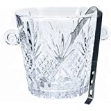 Klikel Dublin Collection Crystal Ice Bucket With Stainless Steel Tong