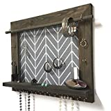 Handcrafted Wall Hanging Wooden Jewelry Organizer