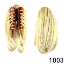 """PrettyWit 10"""" Pony Tail Ponytail Hair Extensions Hairpiece Wig Long Messy Curls Wavy Clip In/On Claw-Light Ash Blonde & Bleach Blonde 1003"""