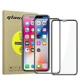 Simpeak [2-Unidades] Protector de Pantalla iPhone X y iPhone XS/Bubble Free/HD Clear/Protector de Pantalla de Cristal Templado Premium para iPhone X/XS