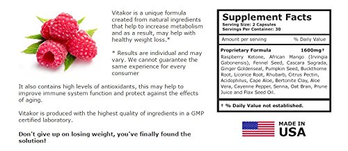Vitakor Diet Pills 3 Bottles - New Formula - Metabolism Booster - Made in USA by 18nutrition (Image #2)