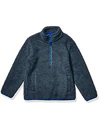 Boy's Polar Fleece Lined Sherpa Quarter-Zip Jacket