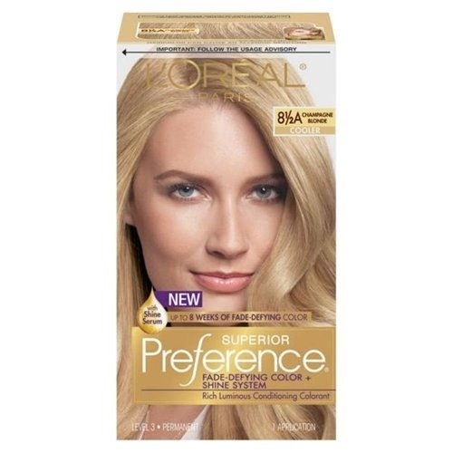 Loreal Superior Preference Hair Color, Champagne Blonde, 8.5a - 1 Ea (Pack of - 8.5a Champagne