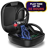 PowerPro Sport 5.0 Bluetooth Headphones - 50 Hours, HD Stereo Earbuds - Powerbeats Pro Style TWS Totally Wireless Ear Buds IPX7 Waterproof in-Ear Buds with Best Mic for iPhone, Running, Gym, Exercise