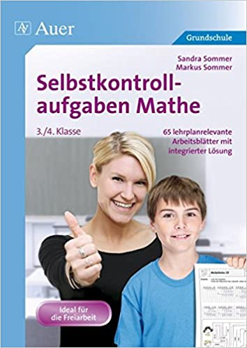 Selbstkontrollaufgaben Mathe für die 3.-4. Klasse: 65 ...