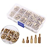 300pcs M3 Brass StandOff Set Hex Male Female Hex Spacers Spacers DIY Set for Motherboard