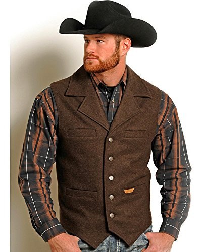 Powder River Outfitters Men's Montana Wool Vest Big And T...