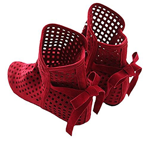 Dear Time Female Hollow Out Perforated Women Boots Ankle Boot Red hVIXWG6