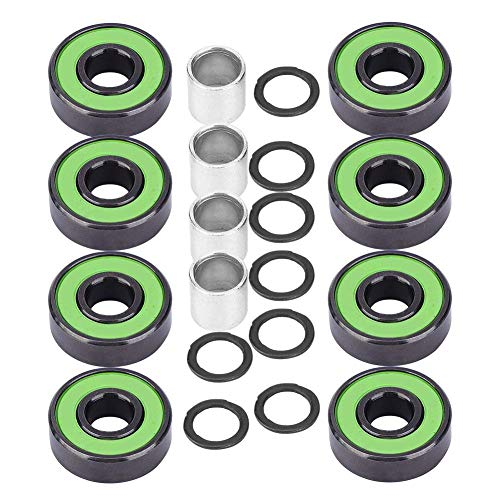 Alomejor Longboard Skateboard Bearings High Speed Low Friction Pre-Lubricated Inline Wheel Bearings for Replacement