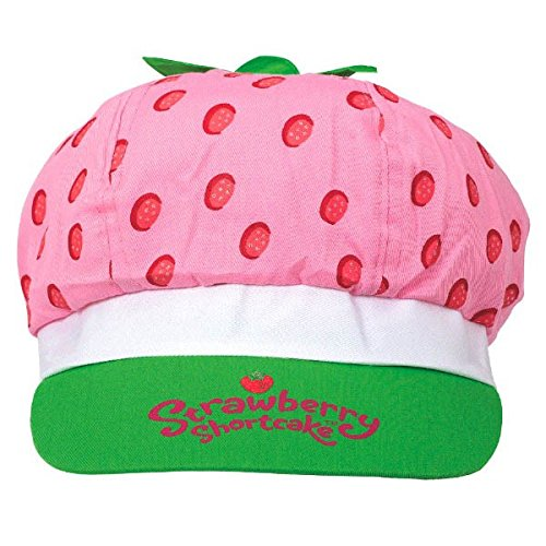 Amscan Pretty Strawberry Shortcake Birthday Party Deluxe Fabric Hat Wearable Accessory Favor (1 Piece), 5 1/2